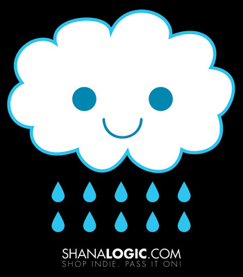 Happy Rain Cloud Poster Print