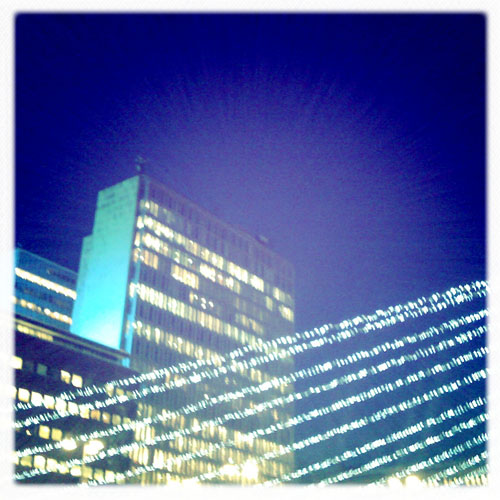 iPhone photography: Christmas Lights on Sergels Torg