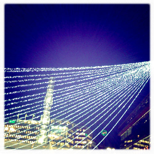 iPhone photography: Christmas Lights at Sergels Torg