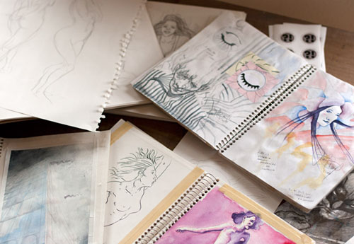 Jamie Berry's sketchbooks