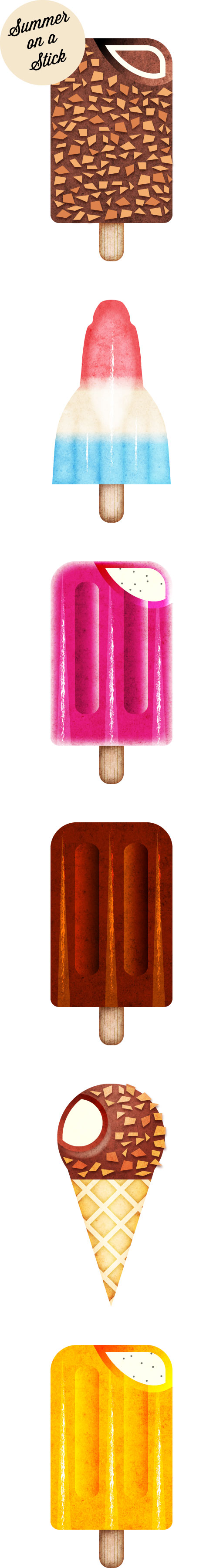 Summer on a Stick. Design inspired by Art Deco