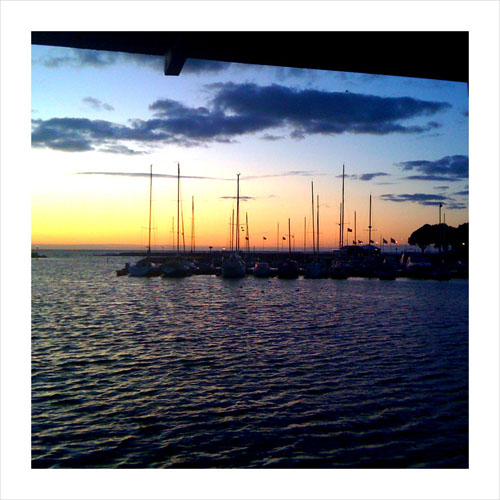 iPhone photography: Sailboats and sunset. Borgholm, Öland.