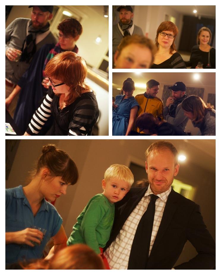 Interested guests at Anne Vilemsons Vernissage