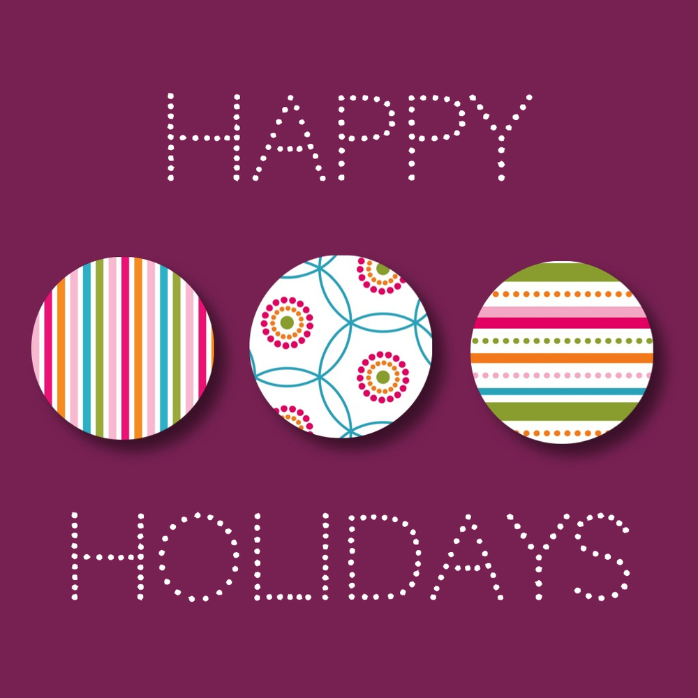 iPhone collage: Modern, graphic Happy Holidays Card by designer Jennifer Bishop.