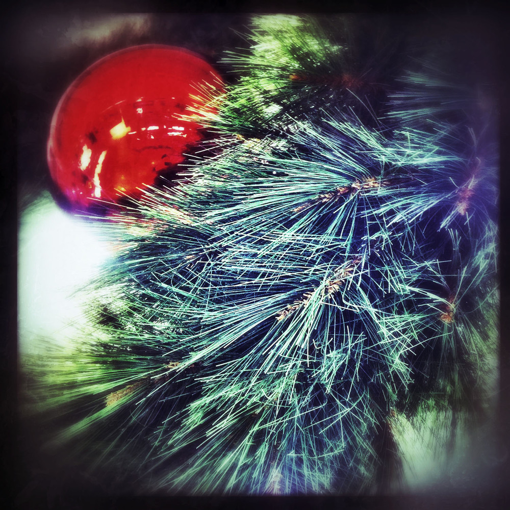 iPhone photo: Christmas bauble and tree