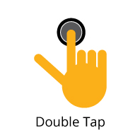 Double tapping (ex: used in various apps).