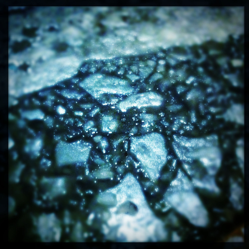 Mobile photography: melting ice