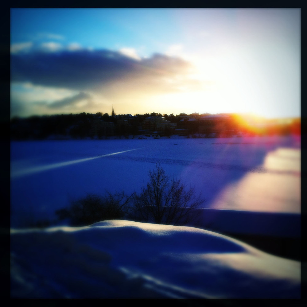 iPhone photo: sunset on the lake