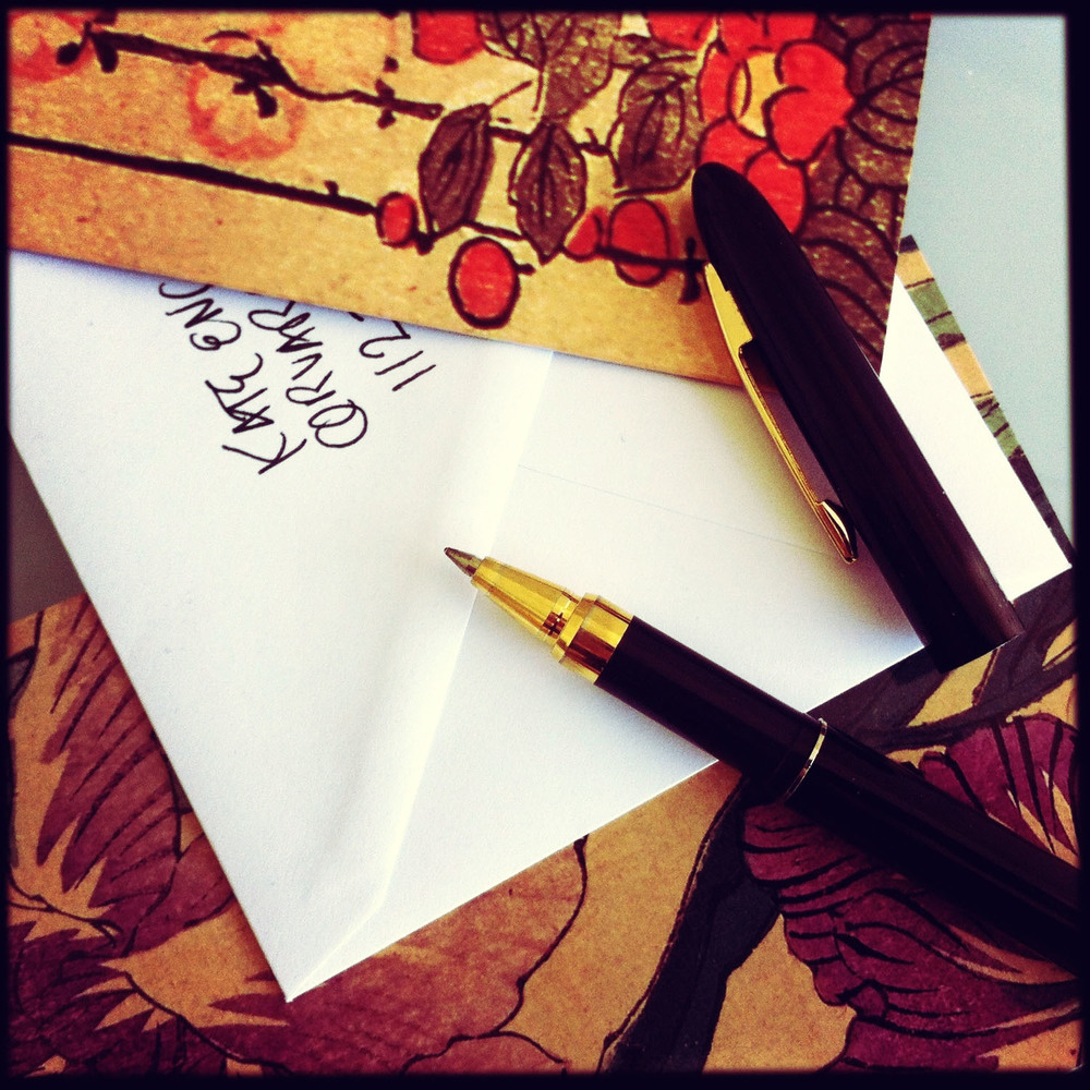 iPhone photo: writing a letter