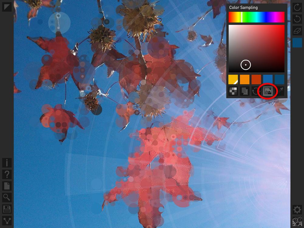 Deco Sketch: Color Sampling Feature