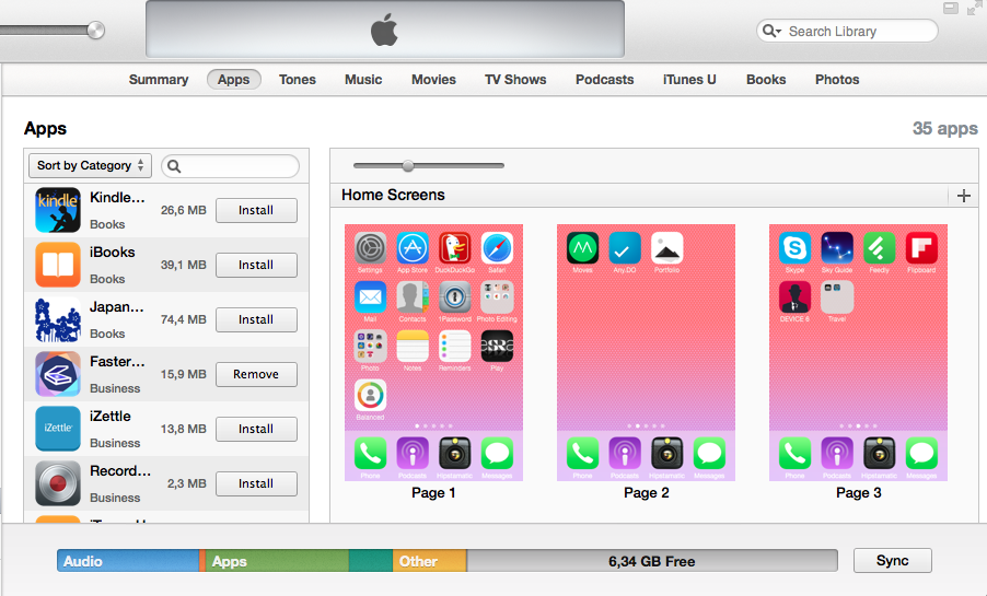 Using iTunes to declutter your apps.