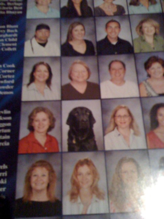 thedailywhat :      Yearbook Photo of the Day:  Redditor  chaggy  spotted an odd-looking student named Barney Dickson in his brother's yearbook.   And you thought your yearbook photo was bad.   (Alt: He doesn't even go here!)   [ reddit .]