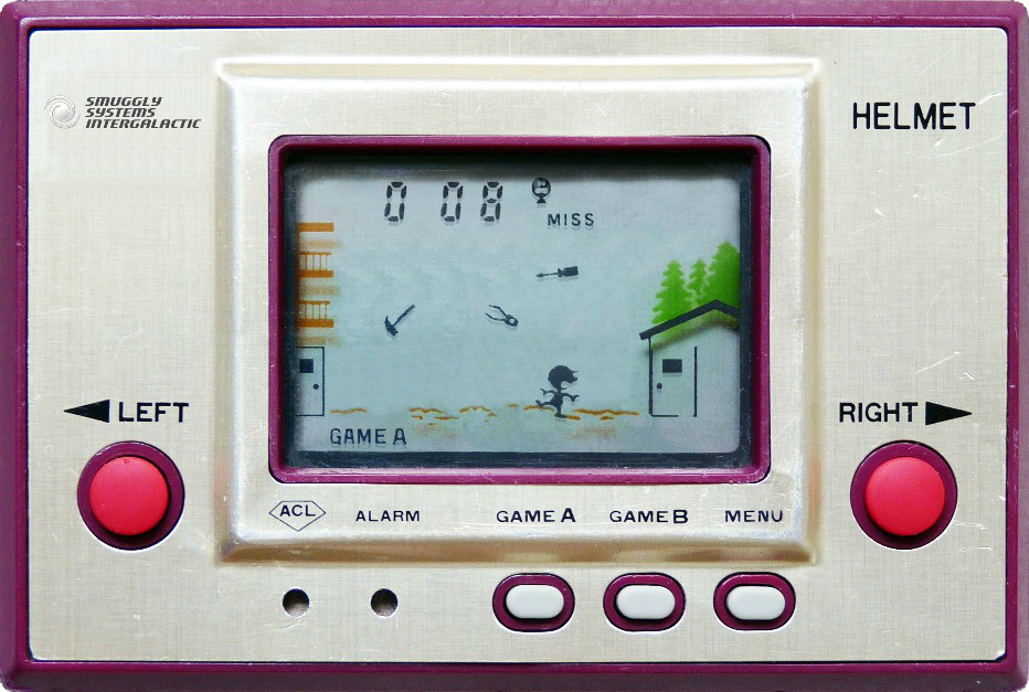 Nintendo Game & Watch  Helmet , as replicated in  this iOS app