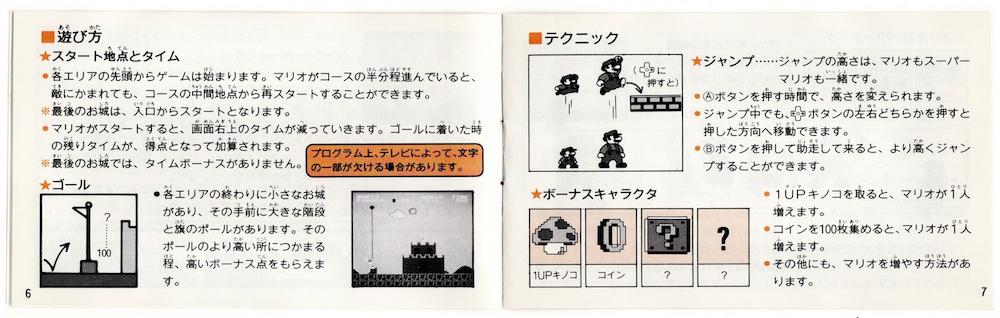 Nintendo's  Super Mario Bros.  (1985) Manual ( Image source )