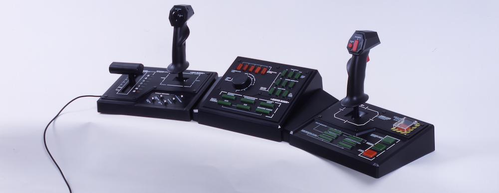 Capcom's  Steel Battalion  (2002) controller, for  realistic  mech piloting.( Image source )