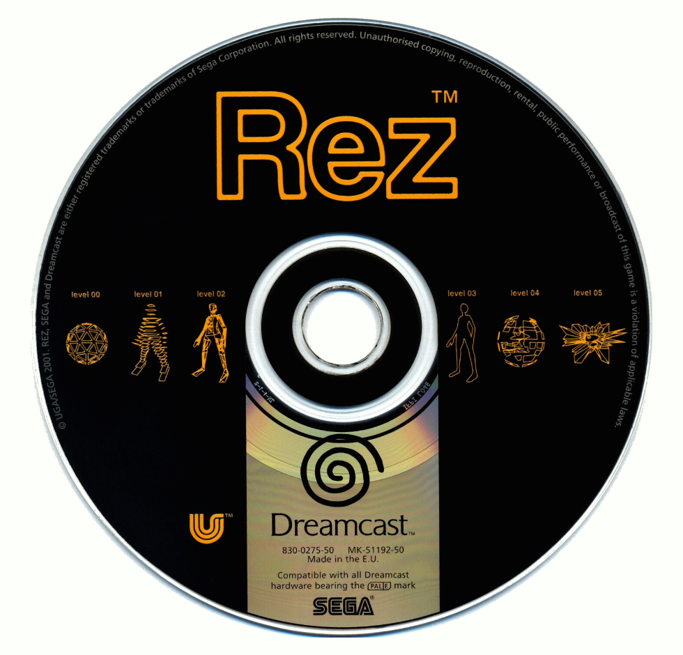 The original Dreamcast disc  Source