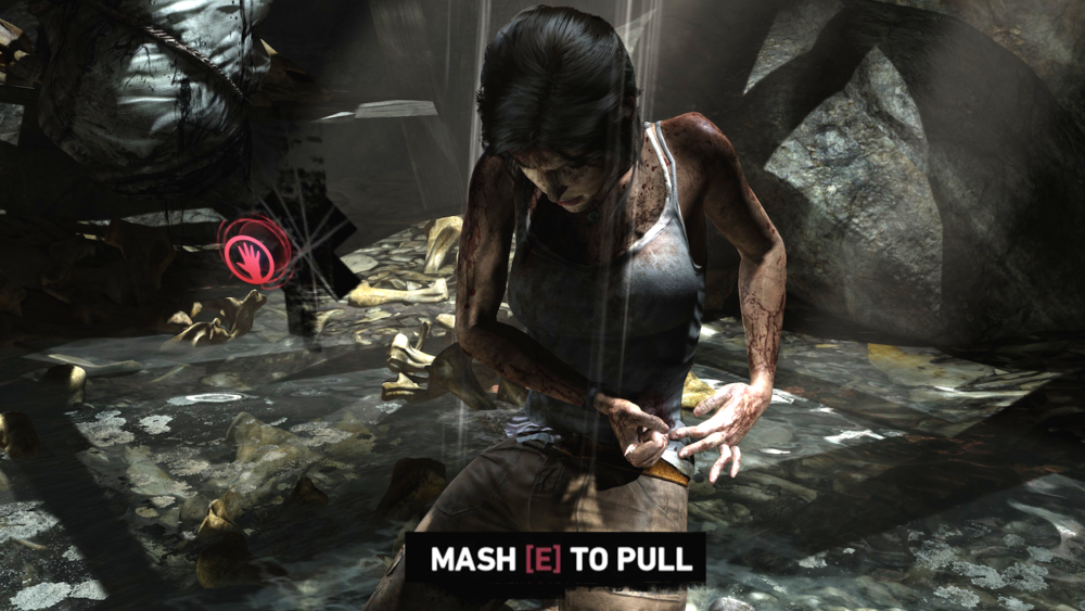 Tomb Raider  asks a lot of the E button, making it too meaningless to carry the weight of important controls