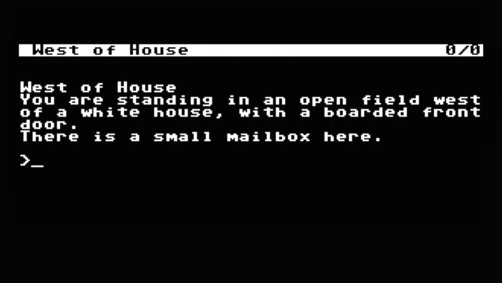 "The first two words of  Zork : ""You are"""