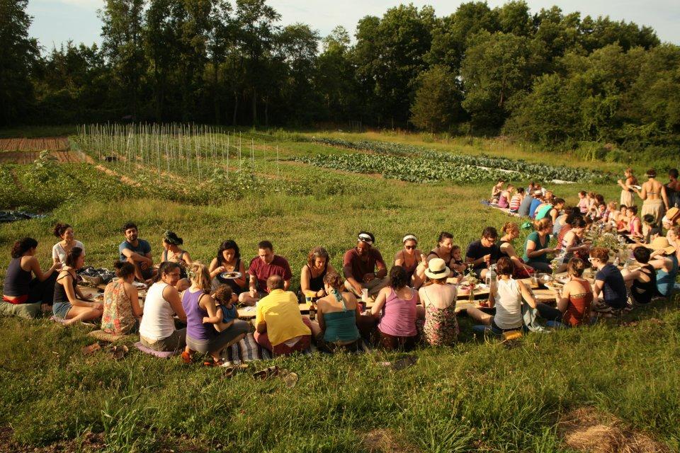 Last month's Farm to Yoga dinner.