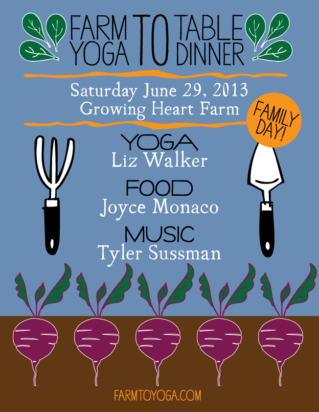 Join Abby Paloma, Joyce Monaco, Liz Buehler Walker and Tyler Sussman at Growing Heart Farm!