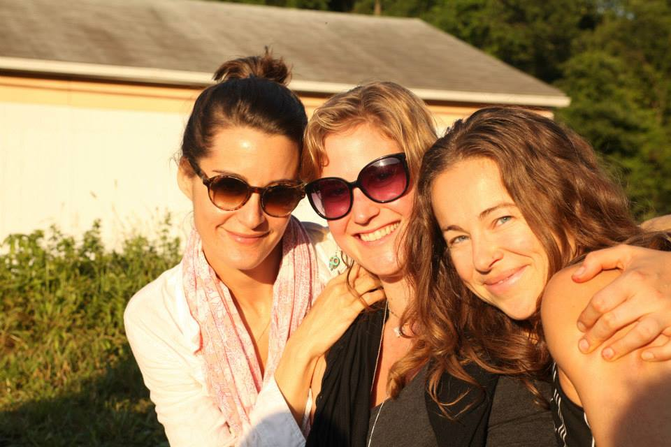 Elena, Abby , and Ally soaking up the sun at dinner