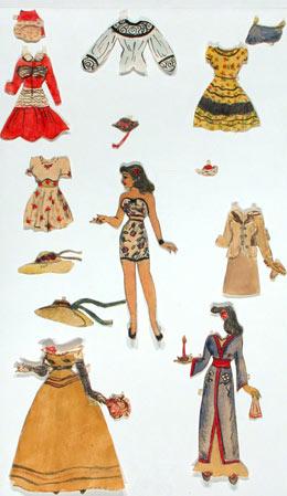 Paper dolls by Sylvia Plath.