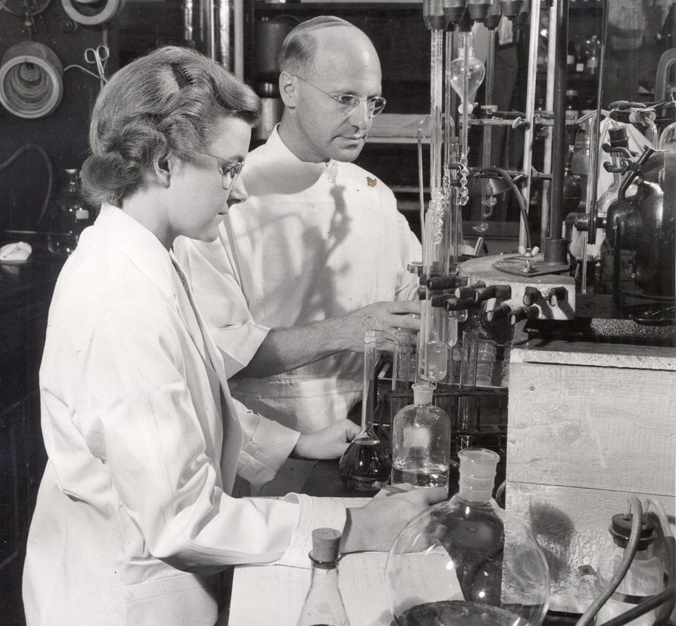 Photo from University Archives' exhibit on the McArdle Research Laboratory.
