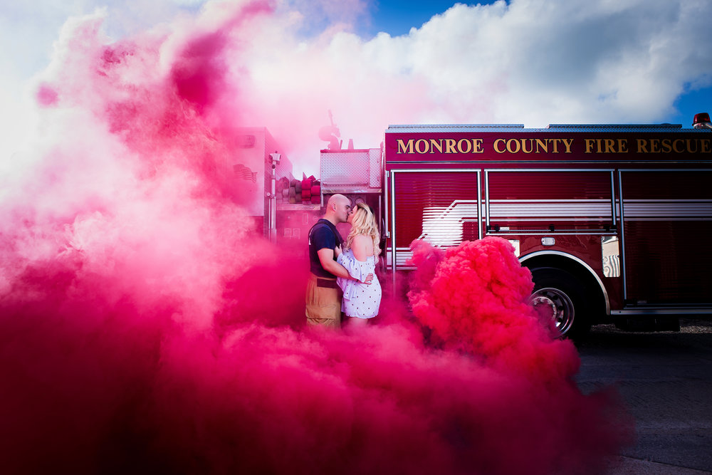 Monroe Fire Station Engagement Session