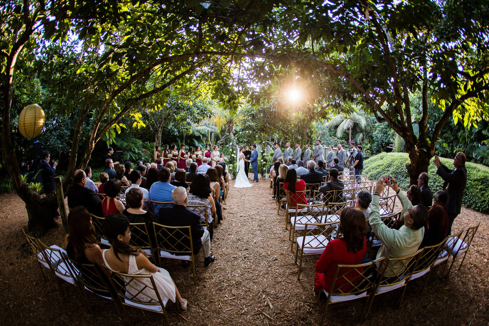 Wedding Ceremony at The Old Grove in Homestead, Florida.