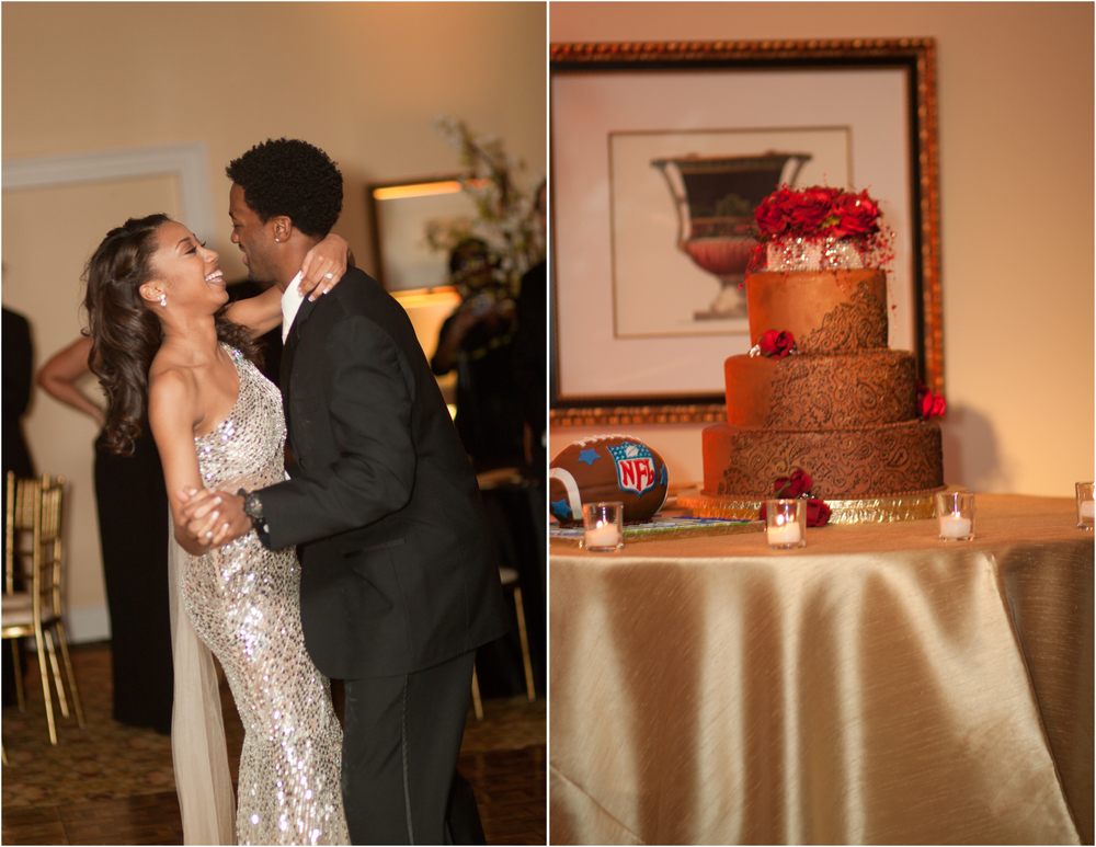 "Joanna and Jared Green during their ""First Dance"" and some very good cake with a S/O to the Cowboys."