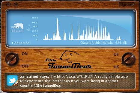 Tunnel Bear al rescate