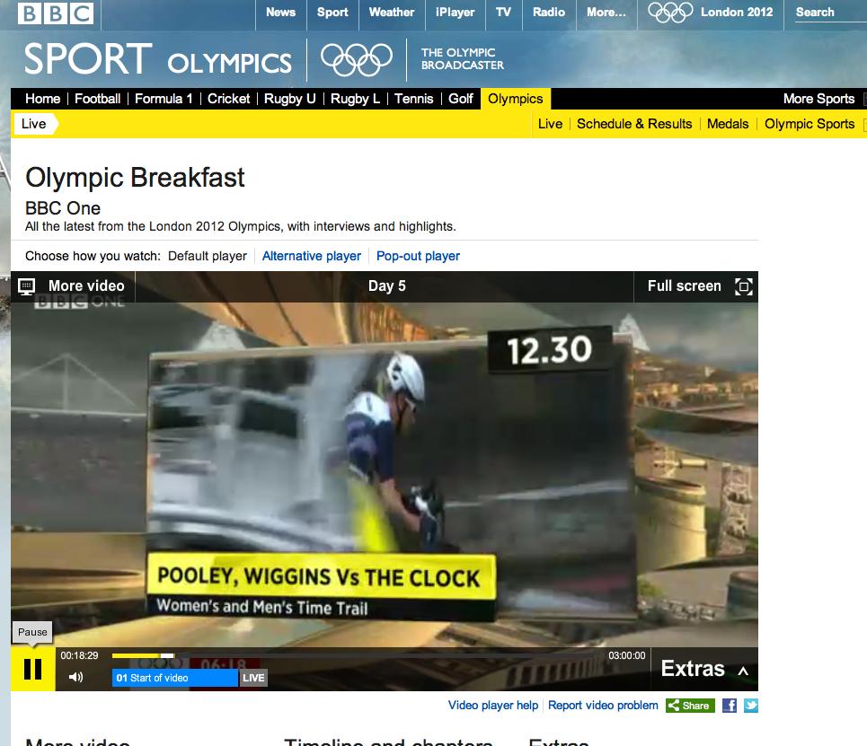 Transmisión en vivo de las olimpiadas mediante el iPlayer de la BBC. Gracias a Tunnel Bear.