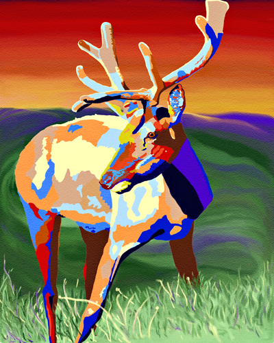 Colourful Elk by J. Gazo-McKim ©2011