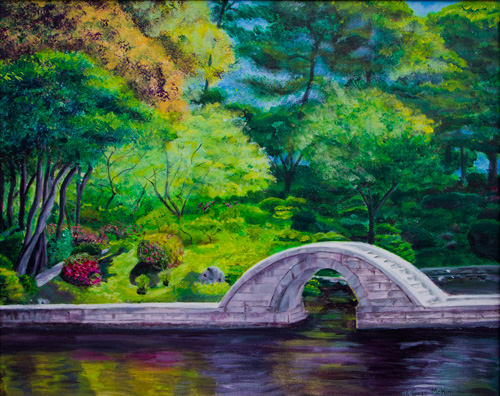 A Peaceful Place in Hiroshima Acrylic on Canvas by J. Gazo-McKim ©2010