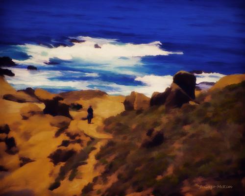 Seaside Stroll by J. Gazo-McKim ©2013