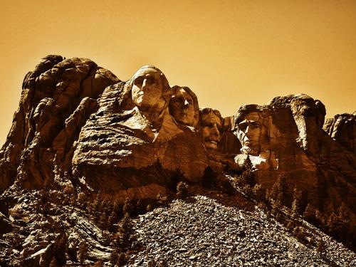 A Vintage Mt. Rushmore by J. Gazo-McKim ©2013