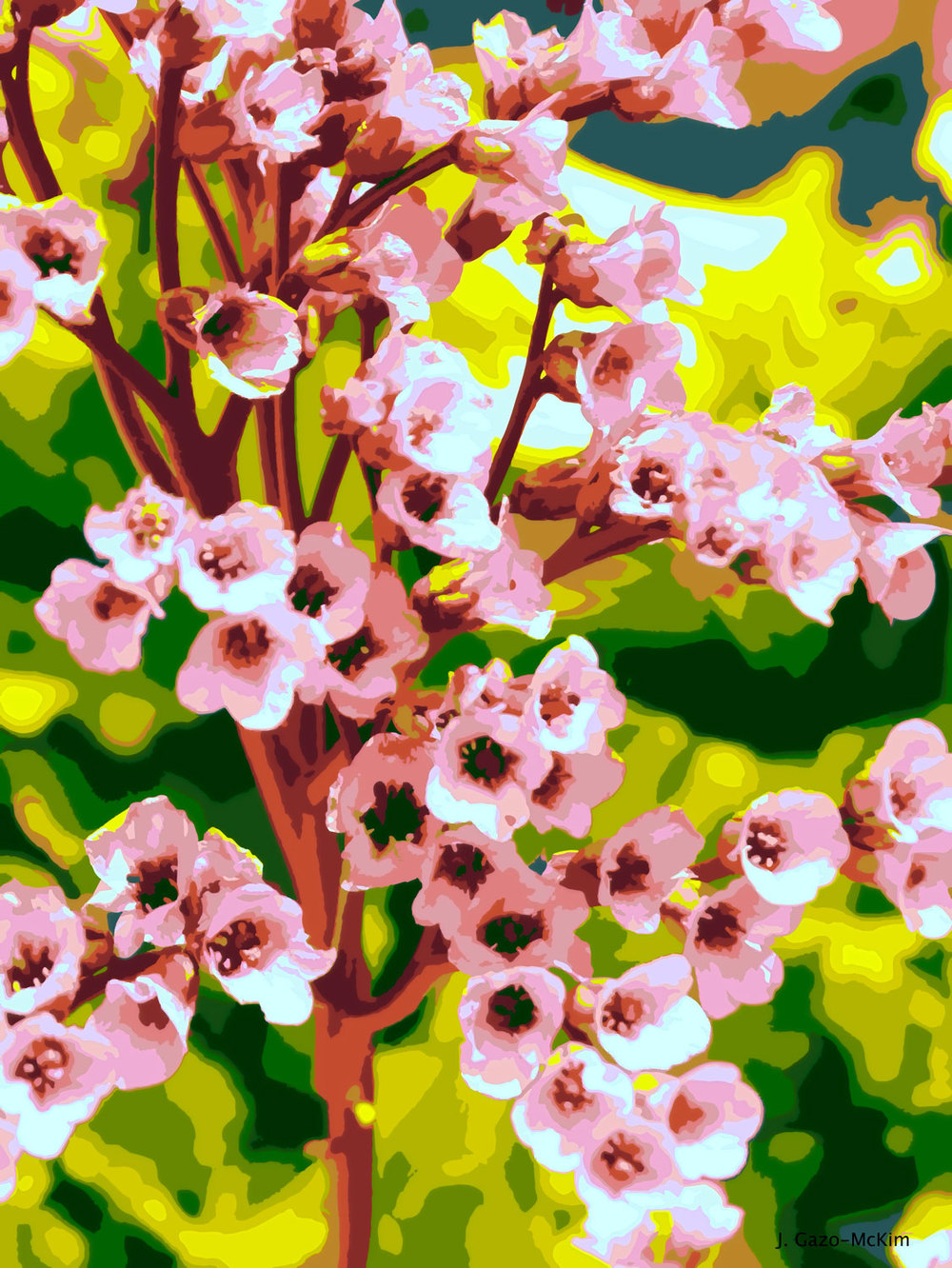 Spring Blossoms Warm by J. Gazo-McKim ©2014