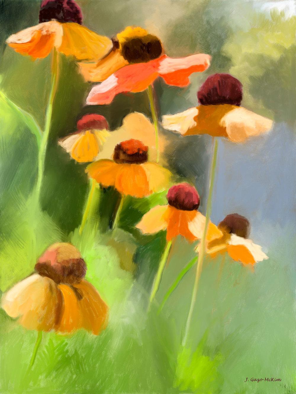 Helen's Flowers Digital Painting by J. Gazo-McKim ©2014