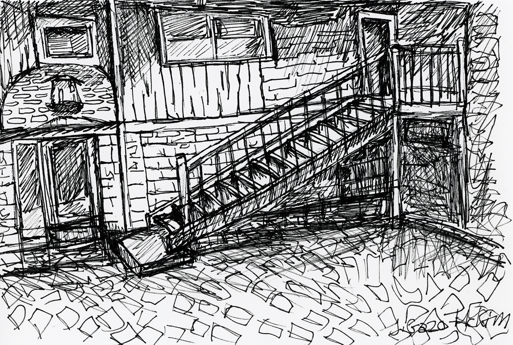 Martello Alley 01 Pen and Ink by J. Gazo-McKim ©2015