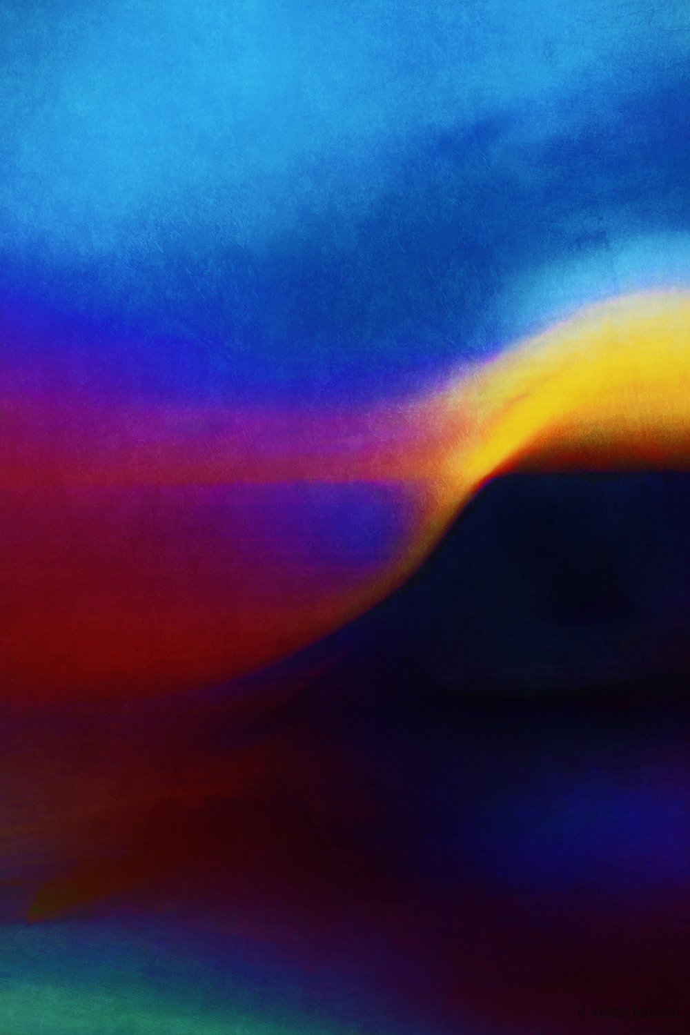 Surreal Sunset Digital Painting by J. Gazo-McKim ©2016