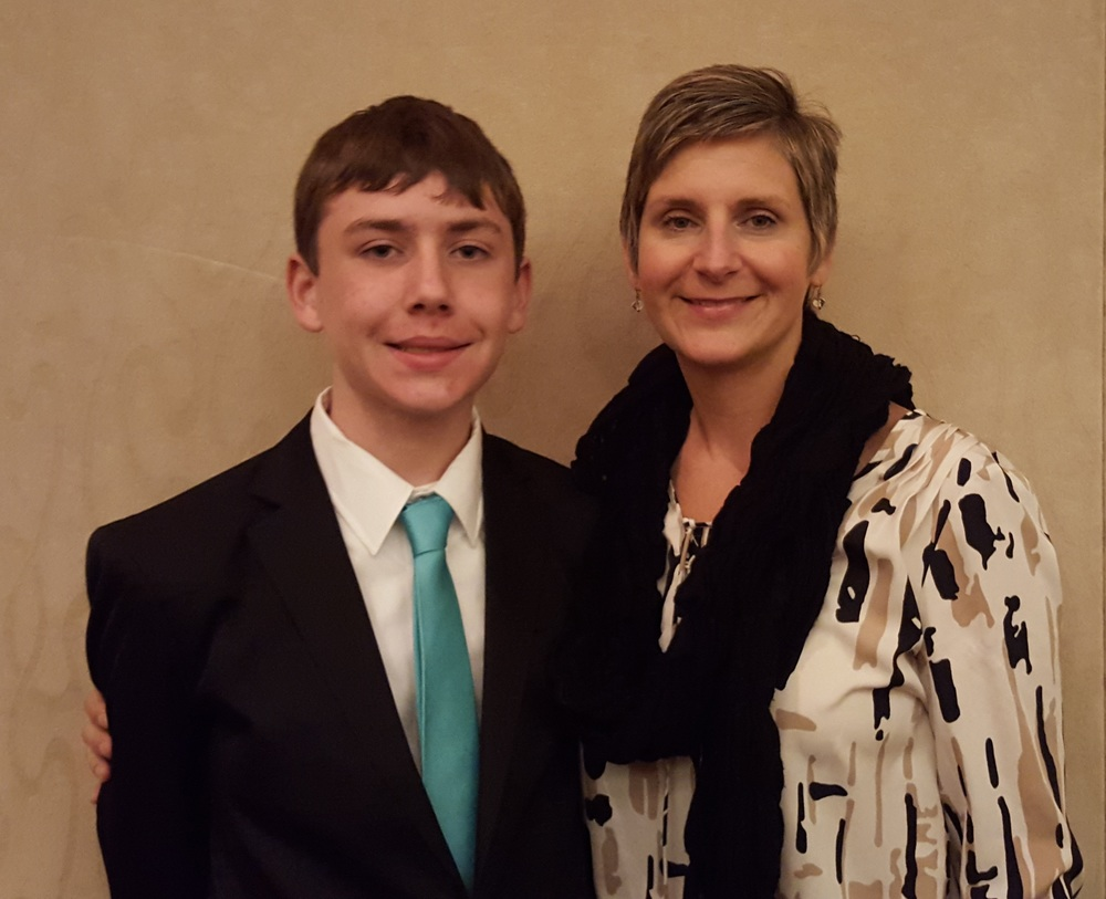 Ian Henry and his mother, Lisa Henry
