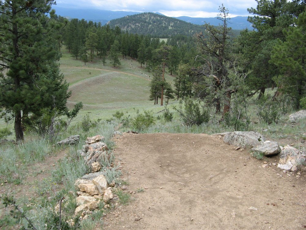 Hole #1 tee box at Bailey DGC, Colorado