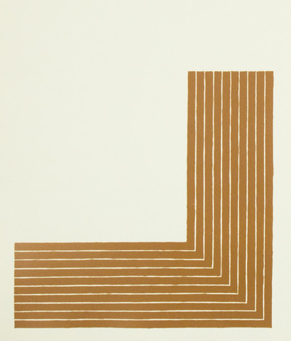 "FRANK STELLA ""CREEDE II"" LITHOGRAPH, 1970"