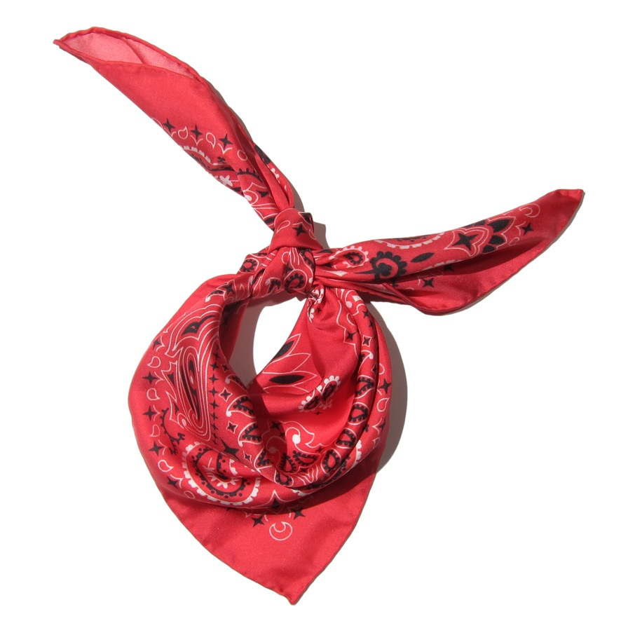 What to Pack for a Spring Getaway : Mona Sultan Red Bandana