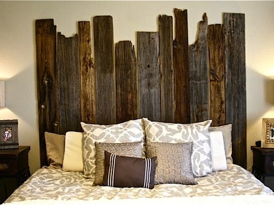 diy salvaged barn wood headboard up kn rth. Black Bedroom Furniture Sets. Home Design Ideas