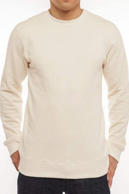100% Organic Cotton Natural Crew Neck