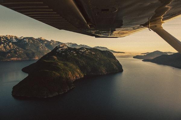 Flying Over The Sunshine Coast, BC