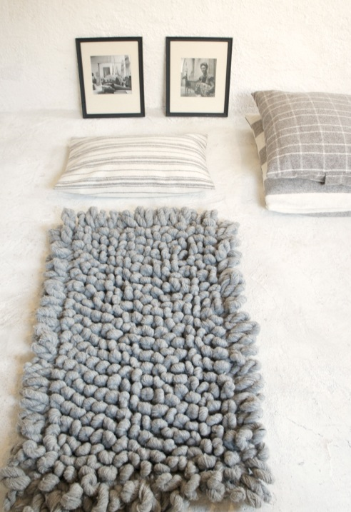 Hand Woven Chunky Wool Rug Up Kn 214 Rth