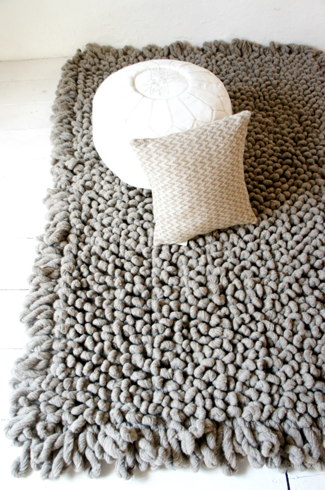 Hand Woven Chunky Wool Rug