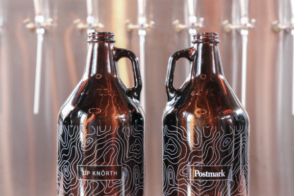 Limited Edition Up Knörth x Postmark Brewing Collaborative Growlers